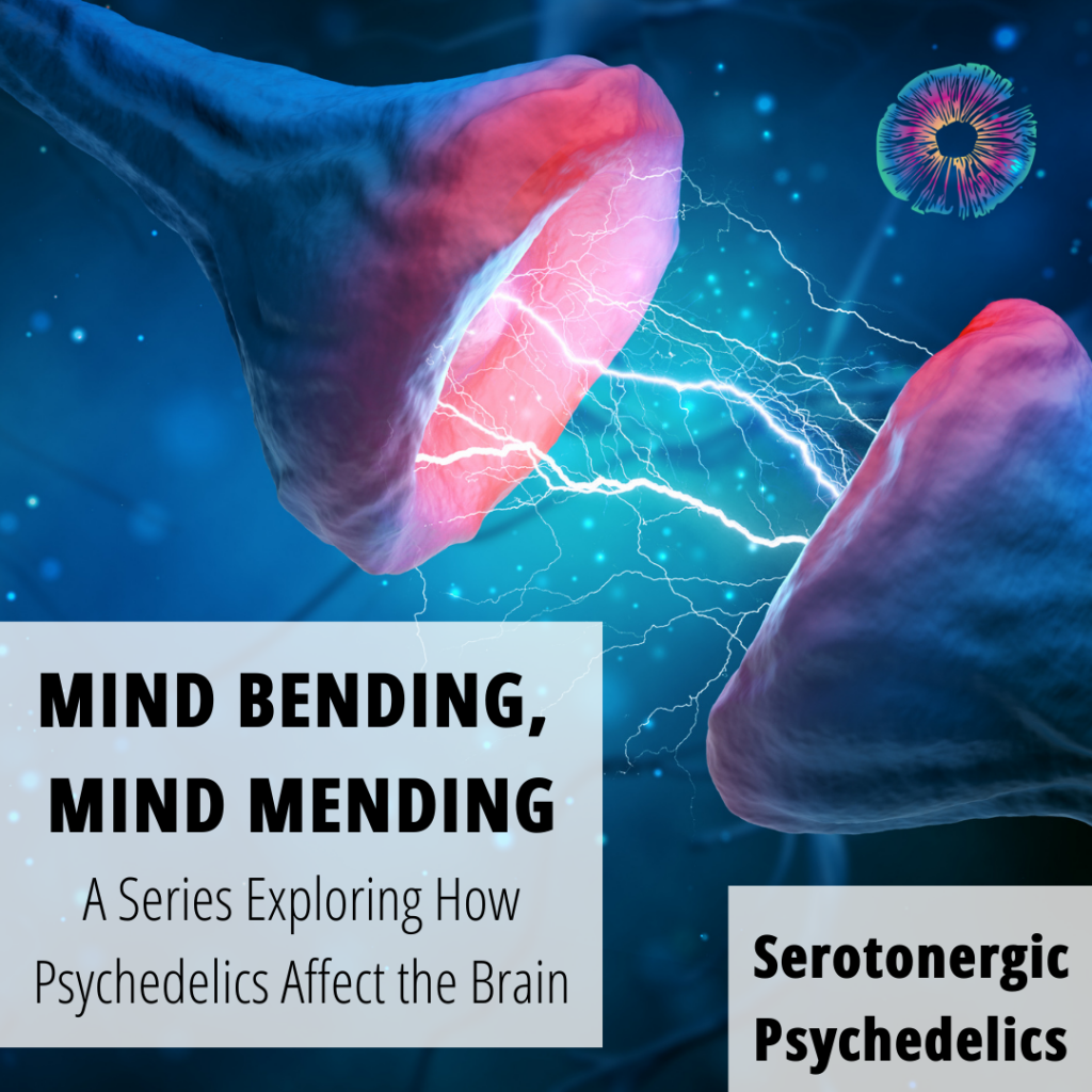 "Advertisement for Psychedelics Today webinar, ""Mind Bending Mind Mending: A Series Exploring How Psychedelics Affect the Brain"""